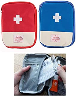 Zaptex Empty First Aid Pouch Medical Bag for Outdoor Camping Travel Pack of 2
