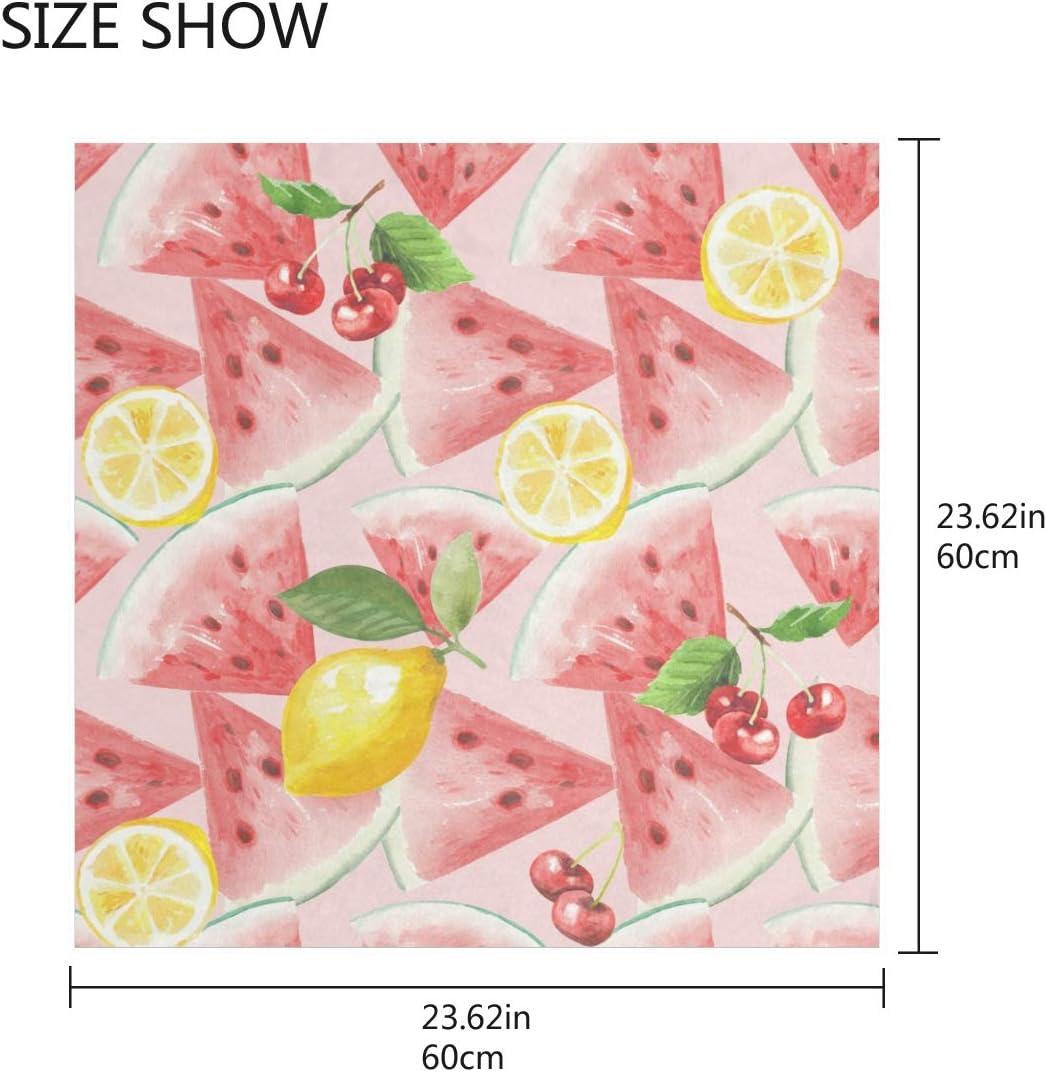 TropicalLife CFAUIRY Square Scarf Watermelon Lemon Cherry Fashion Satin Neck Scarf 23.6