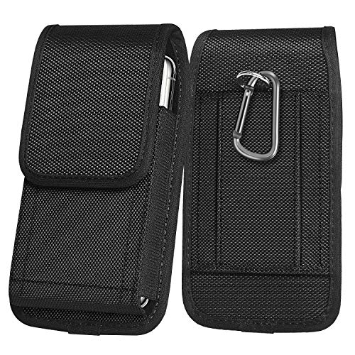 ykooe Vertical Belt Holster Pouch Motorola Moto E 2020 G Power G Fast G Stylus with Carabiner Oxford-Canvas Waist Bag Sleeve Flip Case for Samsung Galaxy A11 A01