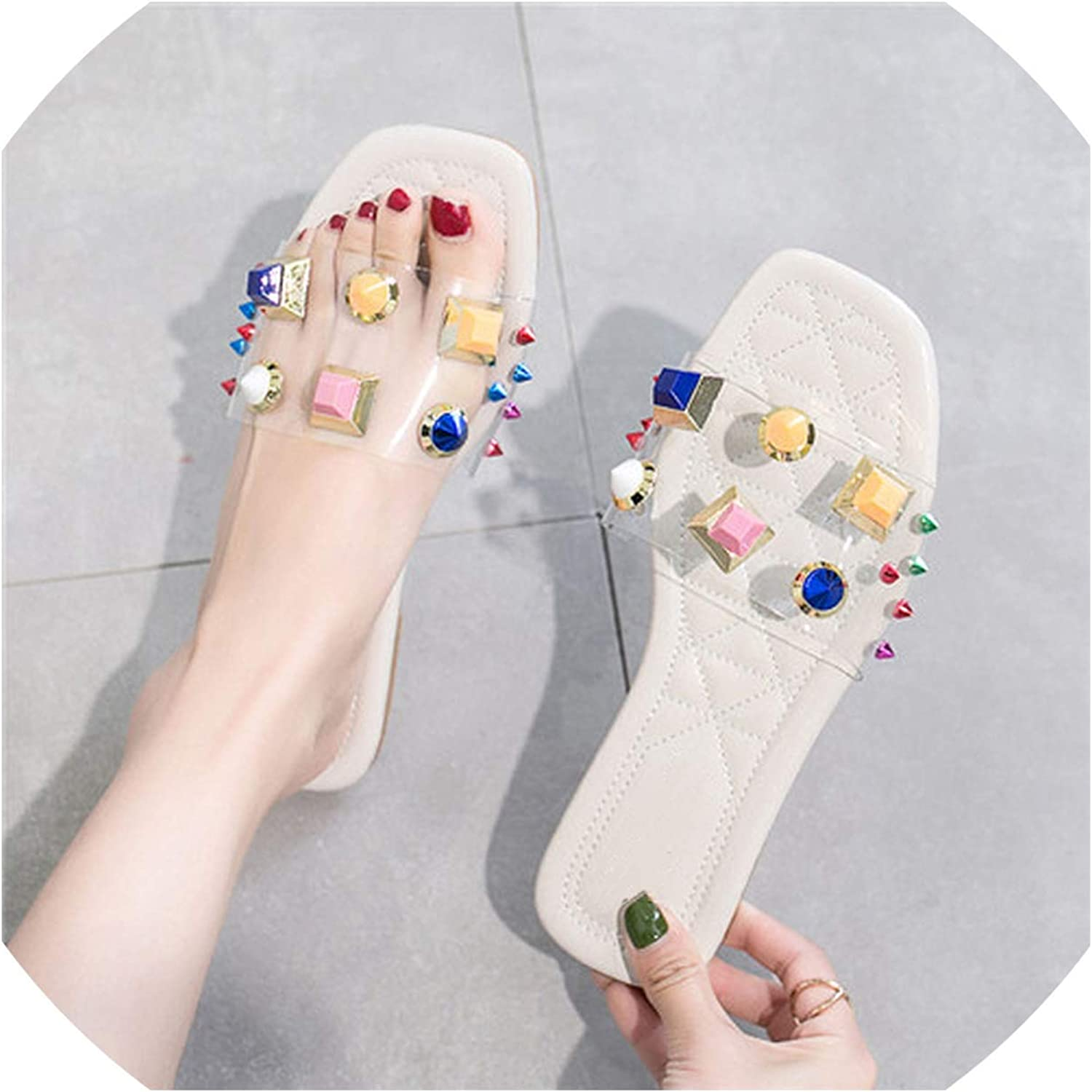 goldsmyth Leather Wedge Heel Slides Slippers PVC Female Summer Rubber Bow Knot Ladies Outdoor
