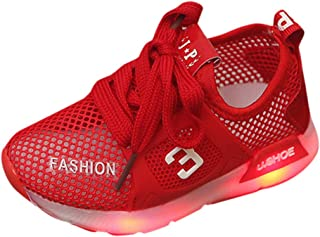 iYBWZH Baby Sport Shoes,Kids Baby Boys Girls Toddler Sport Running Flower Infant Light up Shoes LED Luminous Shoes Sneaker for 1-6 Years Old Kid