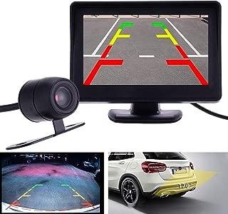 """Ownsig 4.3""""Kit de Cámara de Visión Nocturna Trasera con Reversa para Automóvil y Monitor TFT LCD"""