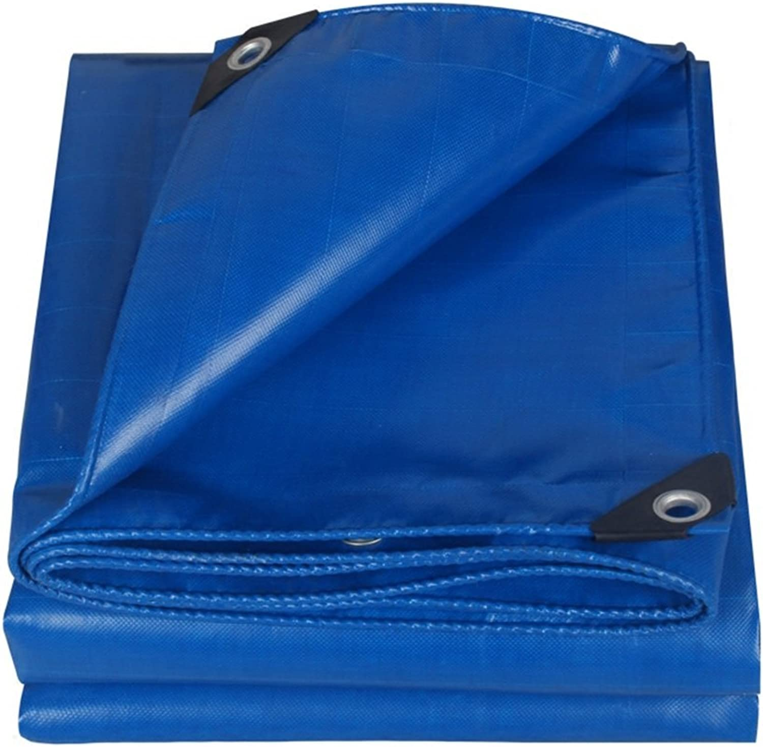 ZEMIN Tarpaulin Waterproof Sunscreen Tent Sheet Roof AntiAging Polyester, blueee, 500G M2, 9 Sizes Available