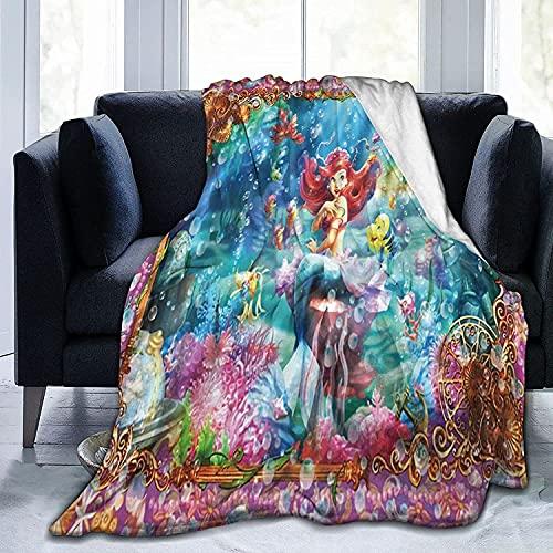 KINGAM Manta de forro polar con diseño de princesa, de Disney, para el hogar, suave y cálido, para cama, sofá, oficina, camping, accesorios para dormitorio