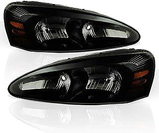 ACANII - For Black Smoked 04-08 Pontiac Grand Prix Headlights Lights Driver + Passenger Side 2004-2008
