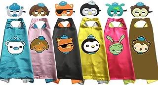 Muyeko Octonauts Costumes Cape Mask Kids Birthday Party Shellington Kwazii Barnacles Dashi Peso Cosplay