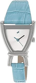 Fastrack Women's Silver Dial Leather Band Watch - 6095SL01