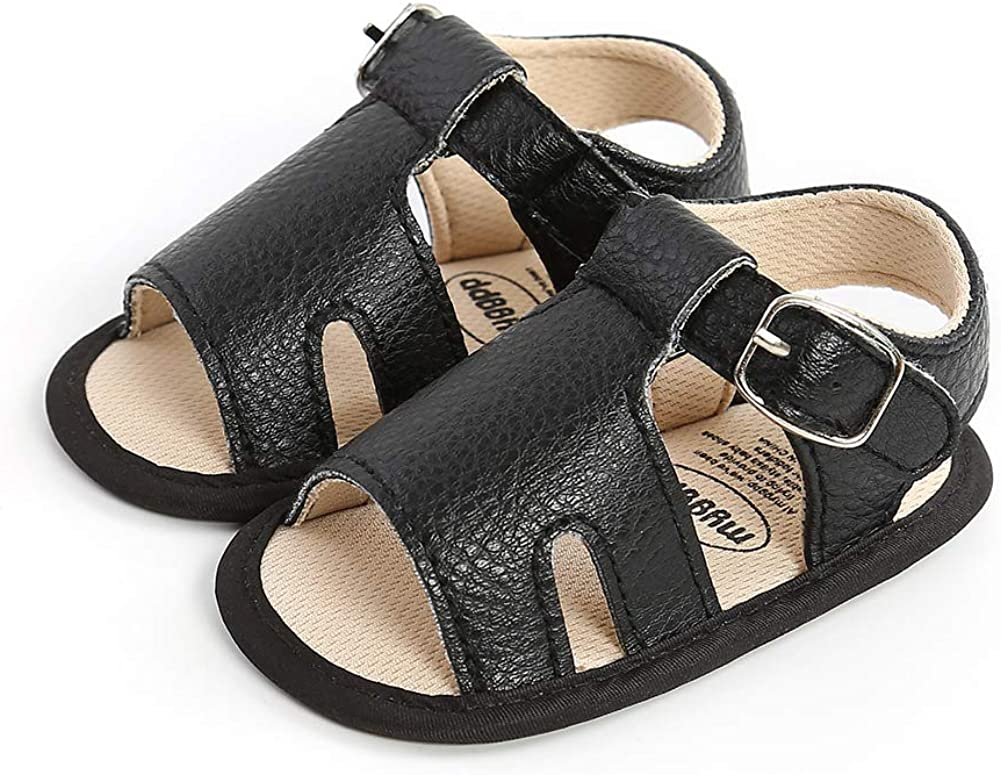 Baby Boys First Sandals Toddler Rubber Summer Shoes Max 68% OFF Sole Wa Cheap sale