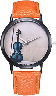 Female Watch for Small Wrist,Women Watches,Ladies Wrist Watches on Clearance,Stainless Steel Watches for Women (Orange)