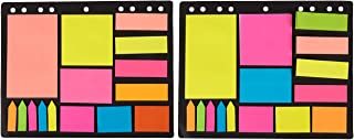Pack of 600 Index Tabs, Bookmark Stickers and Memo Flags - Color Coded Sticky Notes Self Stick Note Pads Post Notes for Students, Office Use, Home Use
