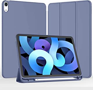 iPad Air 4th Generation Case 2020, iPad 10.9 Inch Case 2020 with Pencil Holder [Support Touch ID and iPad 2nd Pencil Charg...