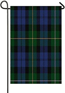 FIRSTLOCH Welcome Winter Merry Christmas Garden Flag, Outdoor Lawn Yard Decor Sized 12 x 18 and 28 x 40, Premier Polyester Double Sided Funny Image Campbell of Loudoun Clan Family Tartan
