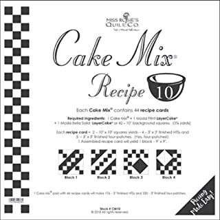 Miss Rosie's Quilt Co - Cake Mix Recipe 10 Each Recipe Card Makes 1-9