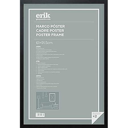 Grupo Erik Marco Madera Poster, Negro, 61 x 91,5