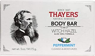 THAYERS Peppermint Witch Hazel Body Bar, 5 Ounce