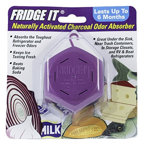 Innofresh Fridge-It- Refrigerator Deodorizer 3 PACK, Odor Absorber and Air Freshener. Natural Activated Charcoal and Fragrance Free, Lasts up to 6-Months