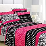 American Home Collection 6 Piece Bed Sheet Set Super Soft Brushed Microfiber - 14' Deep Pocket - Wrinkle Resistant - Hypoallergenic (King, Multi Cheetah-Dot-Paisley)