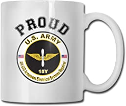DSJRKSKEE Army MOS 15Y AH-64-D Armament Electrical Systems Repairer Funny Gift Mug White Ceramic Cup 11 Oz