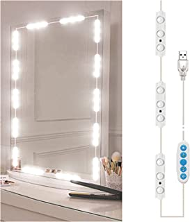 Lights for mirror الصمام المهنية ماكياج مرآة ضوء كامل الخلفية مرآة مرآة الجدول USB مع أضواء الغرور هوليوود الخفيفة light u...