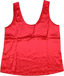 Intimo Women's Silk Camisole Sleeveless Top
