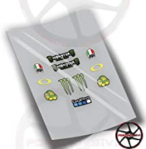 Pegatinas FA02 Stickers ADESIVO AUTOCOLLANTS AUFKLEBER Sponsors Moto GP Rossi 46 VI/ÑALES 12 Lorenzo 99 Blanco