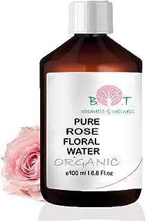 Agua Floral Puro Ecológico Hidrolato de Rosa ORGÁNICO Piel Sensible/Piel Madura 100 ml
