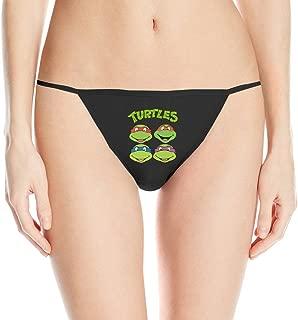 Women's Teenage Mutant Ninja Turtles Sleek Model Thong Panty Underwear