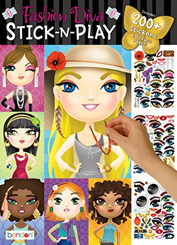 Bendon Fashion Diva Create-A-Face Sticker Pad 42423