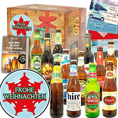 Tannenbaum - Geschenkset zu Weihnachten für Männer - 12x Biere Welt