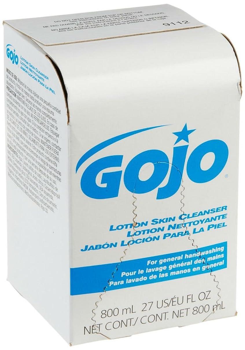 冷凍庫開いた汚れたGOJO INDUSTRIES 9112-12 800ml Bag-In-Box Lotion Hand Soap Skin Cleanser by Gojo