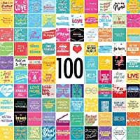 100 Inspirational Quote Cards - Motivational, Encouragement, Gratitude, and Self Care - 3 inchx3 inch Size [並行輸入品]