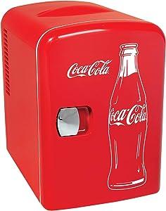 Coca-Cola KWC-4C 6 Can AC/DC Personal Cooler/Mini Fridge (4.2 Quarts/4 Liters)