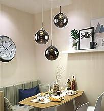 Nowoczesna lampa wisząca w kształcie kuli, szklana lampa na schody, K9, kryształowa lampa wisząca w stylu retro, G14, lamp...
