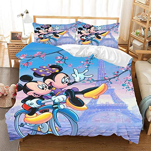 adorable Mickey and Minnie duvet cover