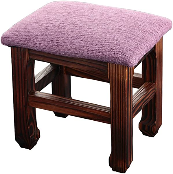 JCRNJSB Sofa Stool Stool Household Living Room Solid Wood Child Cloth Art Shoes Bench Adult Stool Small Bench Shoe Bench Removable Round Short Leg Sofa Stool Wooden Benc Color 1