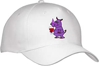 3dRose Lens Art by Florene T-Shirts Image of Purple Rhino On Violet Dots Childrens Art V