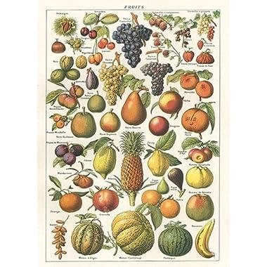Cavallini Larousse Fruit Chart Poster Wrap Decoupage
