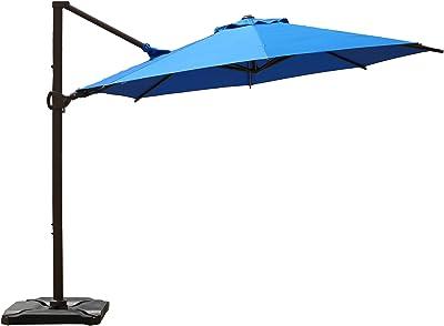 Abba Patio Outdoor Patio Umbrella with Tilt and Crank Lift, 10Feet, Blue