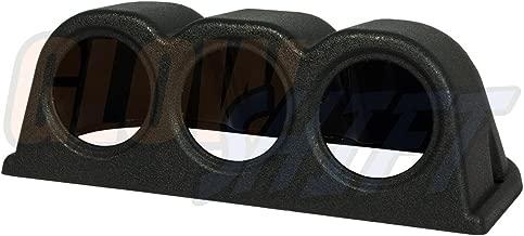 GlowShift Universal Black Triple Gauge Console Dashboard Pod - Fits Any Make/Model - ABS Plastic - Mounts (3) 2-1/16