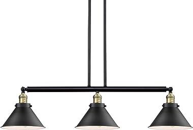 Innovations 213-BAB-S-M10-BK 3 Adjustable Island Light, Black Antique Brass