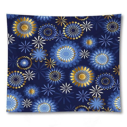 PPOU Caja de Regalo cosmética decoración Hippie patrón de Dibujos Animados Estera de Yoga hogar Colgante de Pared Manta de Tela Tapiz de Tela de Fondo A8 180x200cm