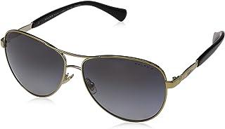 Ralph by Ralph Lauren Women's 0RA4117 3133T3 Sunglasses, Gold/Black/Greygradientpolarized, 59