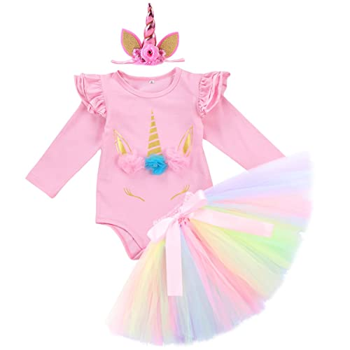 4234cdf086edc IWEMEK Baby Girls 1st 2nd Birthday Cake Smash Photo Shoot 3pcs Outfits  Newborn Infant Princess Halloween