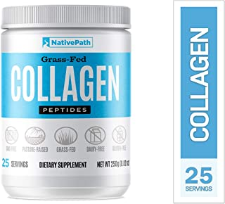 NativePath Collagen Protein Powder - Pure Grass-Fed Beef Collagen, Non GMO, Gluten Free, Dairy Free, Certified Paleo Friendly, Supports Healthy Skin, Joints, and Hair (25 Servings per Bottle)