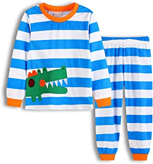 68839303c Hibote Pijamas para Niños Niñas Homewear Cute Dinosaurio Manga Larga Cuello  Redondo Camisas + Pantalones 2