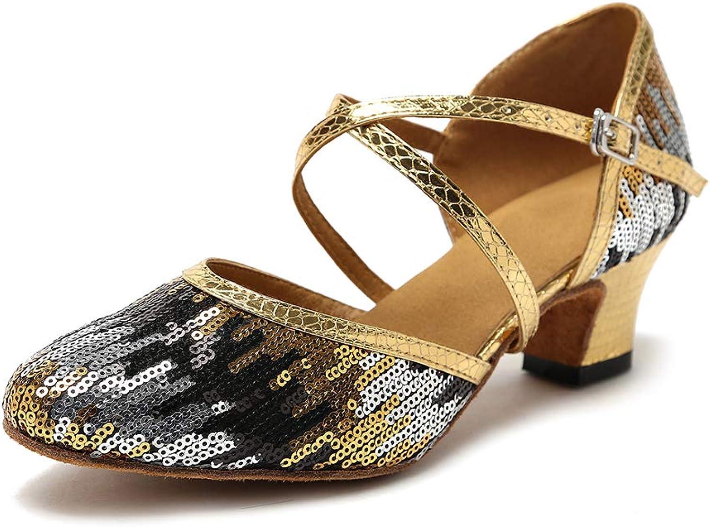 HIPPOSEUS Latin Dance shoes for Women Salsa Performance Dancing shoes Low Heel 5cm,Model YC-L135