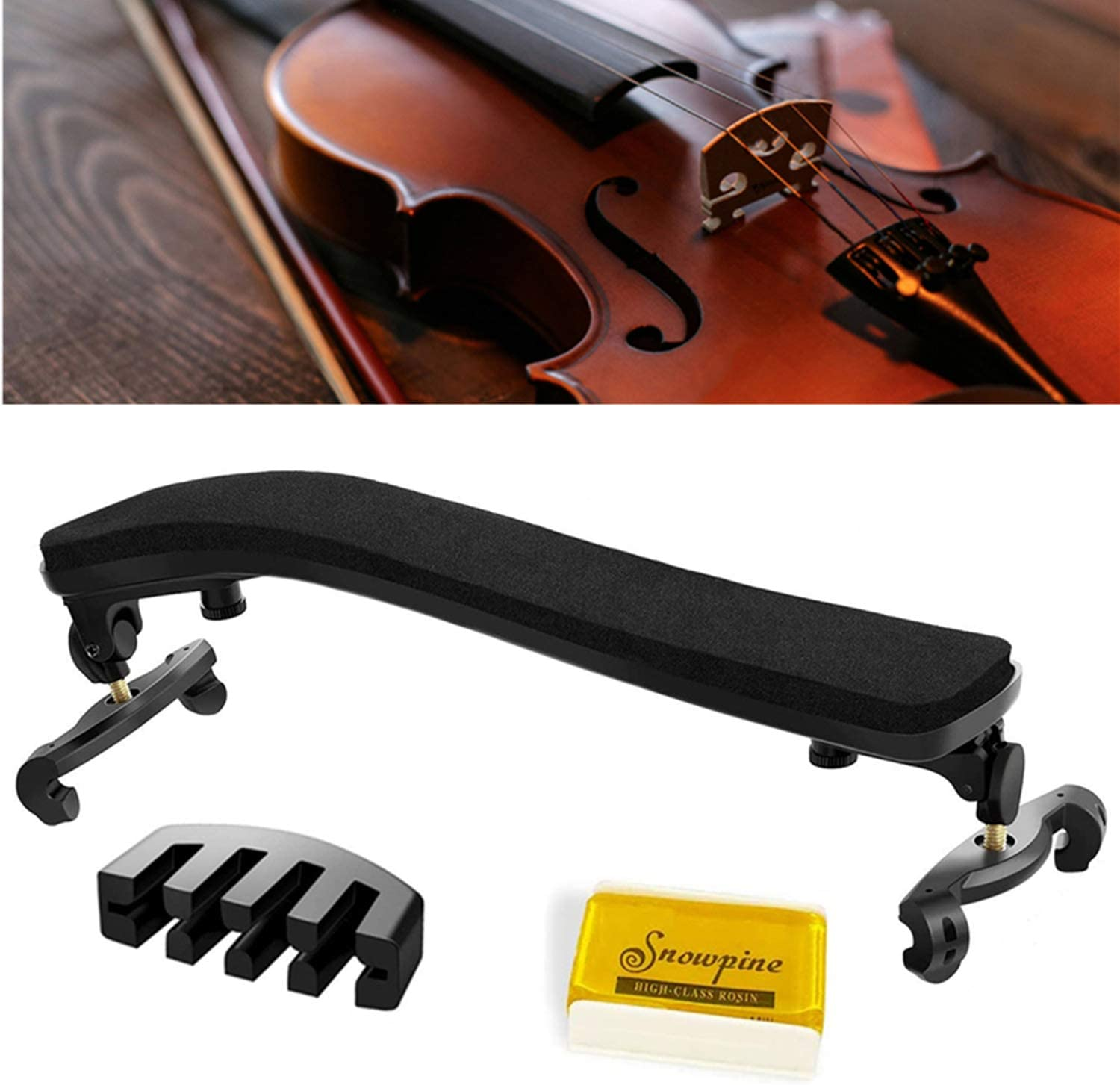 Suewio Violin Shoulder Rest for Genuine 4 a Collapsible with 4-3 OFFer Size