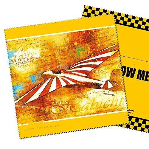 'Paño para Limpieza con avión Diseño Vintage Glider para Pilotos. Un pequeño de Arte para el Durchblick