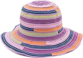 SHENTIANWEI Women's Summer Hat Beach Hat Breathable Bucket Cap Women's Casual Straw Hat Handmade Crochet
