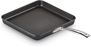 """Le Creuset Toughened PRO 11"""" Square Grill Pan Nonstick Cookware, Grey"""
